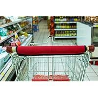 购物车手柄套 - 保护性包裹,适用于杂物推车和婴儿车手柄 - 可洗、可翻转、可重复使用,柔软舒适的握把 - 15 英寸(约 38.1 厘米)长,购物者*助推器