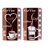 Wenko 2521492500 咖啡香料,2 只装通用炉灶,适用于各种类型的厨具、玻璃,多色