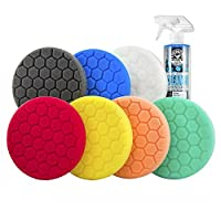 Chemical Guys BUFHEXKITS8六角逻辑抛光垫套装 6.5英寸垫(8件)(亚马逊进口直采,美国品牌)