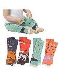Ehdching 卡通动物婴儿婴儿 4 件装男孩女孩护膝护腿套