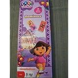 Dora the Expolorer Dominoes Set ~ 28 Plastic Dominoes