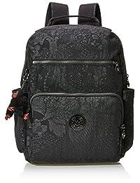 Kipling 大开眼界 女式 妈咪包 K14169B7900F 黑色热带花卉 410 * 355 * 200mm