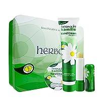 Herbacin 小甘菊 经典礼盒(经典软管手霜75ml+唇膏4.8g+经典圆罐手霜20ml)(进)