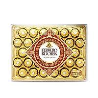 Ferrero 费列罗 Rocher榛果威化巧克力32粒礼品钻石装400g