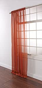 Stylemaster Lucky Stripe Voile Panel, 60-Inch by 63-Inch, Chili