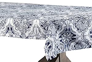 delft blue 设计师人造丝绸塔夫绸桌布