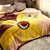 水漾 樱花草拉舍尔毛毯双层加厚盖毯单人双人毯学生冬季被子珊瑚绒毯子 落花有意 200cm×230cm(7斤)