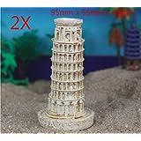 Qptimum 0710 2X 微型微小树脂塔 意大利工艺雕塑水族馆书架 沙发疗装饰品 鱼缸装饰爬行动物