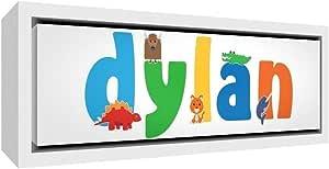 Little Helper 帆布,带木框彩色样与男孩Dylan 88 x 34 x 3 厘米,白色纯色 L 码