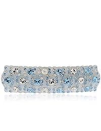 Royal.SaSa 韩版头饰横夹时尚发卡人造水晶亚克力发夹发饰-若水蓝梦