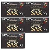TDK SA-X 90 分钟空白盒式磁带- 5 件装