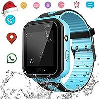 儿童智能手表 - IP67 防水儿童智能手表 带 GPS/LBS 位置追踪器 02 Waterproof Blue