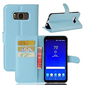 三星 Galaxy S8 Active 手机壳 03#Leather-Sky Blue