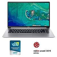 Acer 宏碁 Swift 5轻薄笔记本电脑 15.6英寸全高清 IPS触控显示屏,采用纤薄0.23英寸边框,第8代英特尔酷睿i5-8265U,8GB DDR4,256GB PCIe NVMe SSD,背光键盘,Windows 10 - SF515-51T-507P