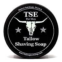 TSE for Men Artisan 剃须皂,带浅果果酱。 天然成分,富层泡沫,光滑舒适剃须。 Artisan 127.57 克半软意大利风格。 美国制造。 LAVENDER SAGE
