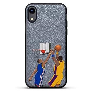 All Things Elon:When Something is Important。 Musk Quote | 豪华皮革系列修身版手机壳带真皮背面 & 3D 印花设计,适用于 iPhone XR(15.24 厘米)石灰色LUX-IRLTR2GR-MWBASKETBALL2 运动 SPORTS: Mamba Fadeaway Basketball Shot
