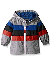London Fog Baby Boys' Chest Stripe Poly Lined Jacket