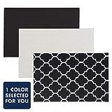 "Quartet 公告板,织物,27.94 x 43.18 厘米,家庭整理,1 块板,颜色可能不同 (50728) 布告栏 11"" x 17"" 黑色"