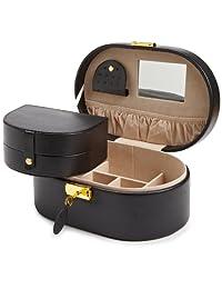 WOLF 280502 Heritage Oval Jewelry Box, Black