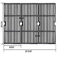 Hisencn 铸铁烤架烹饪格栅替换零件适用于Charbroil 463420508、463420509、463420511、463436213、463436214、463436215、463440109、463441312、463441514、463461613、Thermos 4614421
