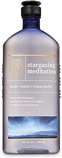 Bath and Body Works 身体护理芳香* - 沐浴露 + 泡沫浴 - 10 液体盎司(约295.7克) - 多种香味!(观星冥想 - 佛手柑广藿香香根)