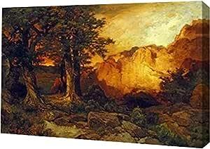 """PrintArt GW-POD-64-268317-36x24 """"The Grand Canyon""""由 Thomas Moran 画廊装裱艺术微喷油画艺术印刷品 36"""" x 24"""" GW-POD-64-268317-36x24"""