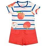 凡爱宝贝红苹果短袖肩扣套FFAEC5145蓝色73cm