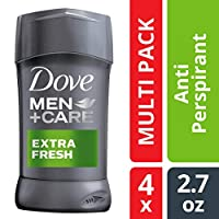 Dove Men+Care Antiperspirant Deodorant Stick, Extra Fresh 2.7 oz, Twin Pack 2.7-Ounce (4 Count)