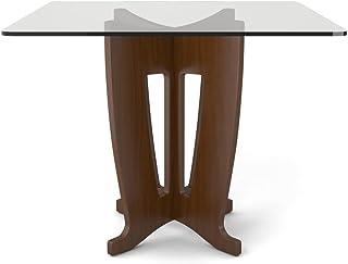Manhattan Comfort Jane 时尚钢化玻璃顶餐桌 棕色 105051-MC