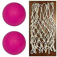BTF Play 幼儿儿童更换网和篮球 1 或 2 只装 2 ball 粉红色