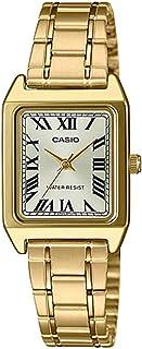 CASIO卡西欧 矩形金色调不锈钢罗马金色表盘 时装表 LTP-V007G-9B 女款