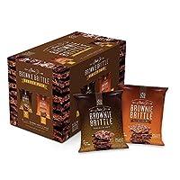 Brownie Brittle 盐渍焦糖和巧克力片 多种包装,1盎司(454克)袋装(20袋装),令人难以置信的美味巧克力布朗尼脆饼干零食(包装可能会有所不同)