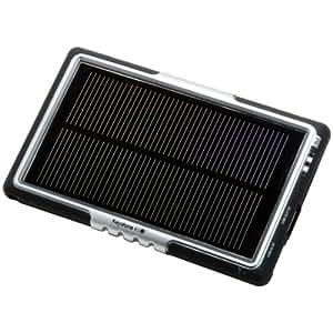 Keystone ECO SC1500-001 Solar/USB Power PAK,太阳下可充电或通过 USB 连接用于 iPhone/iPod - 零售包装 - 黑色/银色
