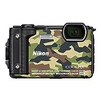 ' Nikon vqa073 K001 – 紧凑 W 300数码相机 (16 MP, LCD - 3, 视频4 K 全高清, 技术 AF) 迷彩 – Kit 假日带背包防水