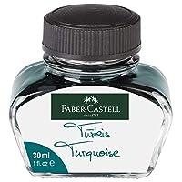 Faber-Castell 30ml 或 62.5ml 瓶装墨水替换装,适用于钢笔 30ml Turquoise