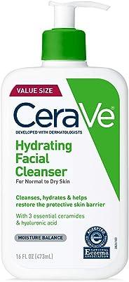 CeraVe 保湿洗面奶  16盎司/473毫升  日常洁面乳,适合干性皮肤  无香料