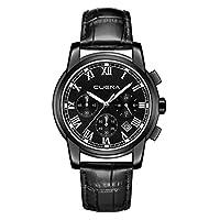 男式手表不锈钢 watch-luxury 休闲模拟罗马石英日历手表男式香水 cuena