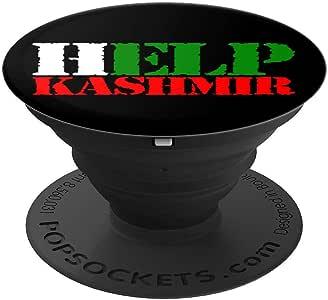 Help Kashmir To Out - Muslim should Stand 适用于 Kashmir PopSockets 手机和平板电脑的握把和支架260027  黑色