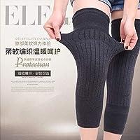 羊绒秋冬保暖护膝户外运动骑车防寒护腿部加厚保暖护具 (101灰色1件)