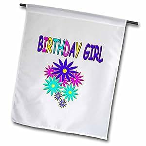 birthday–生日女孩–旗帜 12 x 18 inch Garden Flag