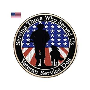 狗狗用狗贴布。 认证服务狗 DO NOT PET 可拆卸补丁用于服务狗胸背带和背心。 狗狗用狗贴布 Veterans 单瓶装 FP0001