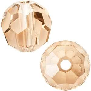Adabele 奥地利圆形水晶珠适用于施华洛世奇 Preciosa 耳环手镯 脚链 首饰制作 桃红色 6mm 632181319222