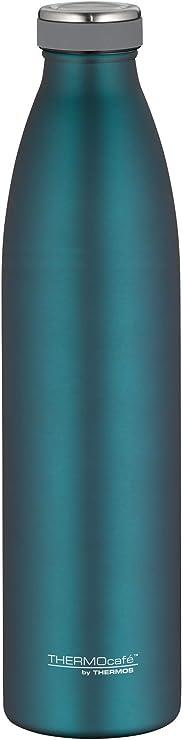 THERMOS 膳魔师 ThermoCafé 保温瓶 TC 瓶 不锈钢垫 青色 Mat Teal 1,0 Liter 4067255100