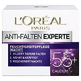 L'Oréal Paris 巴黎欧莱雅 抗皱专家 保湿护肤晚霜 含钙原因子 55岁+,3盒 (3 x 50毫升)