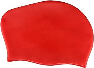 HuiYee 硅胶泳帽泳帽适合长发,优质防水材料适合游泳男士女士成人青少年,舒适度假(4 种颜色可选,一包)