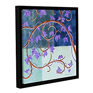 ArtWall Herb Dickinson's Blue Gate Gallery Wrapped Floater Framed Canvas, 24 x 24""