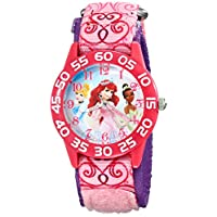 Disney W001667 公主模拟显示屏模拟石英粉色手表