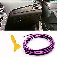 车内饰 立体DIY 5米电镀彩膜 车内装饰 条带线 (紫色)