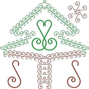 Sumind 160 件圣诞装饰挂钩树挂钩灯钩小螺旋挂钩圣诞树装饰 红色,*