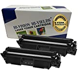 HI-VISION 兼容 CF230A 碳粉盒 HP30A 黑色碳粉盒 [带CHIP] 标准产量 1,600 页 适用于惠普打印机 MFP M227d/M227fdn/M227fdw/M227sdn/M203dw/M203dn 2 件装